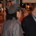 Carlos Santana exiting VIP area 3