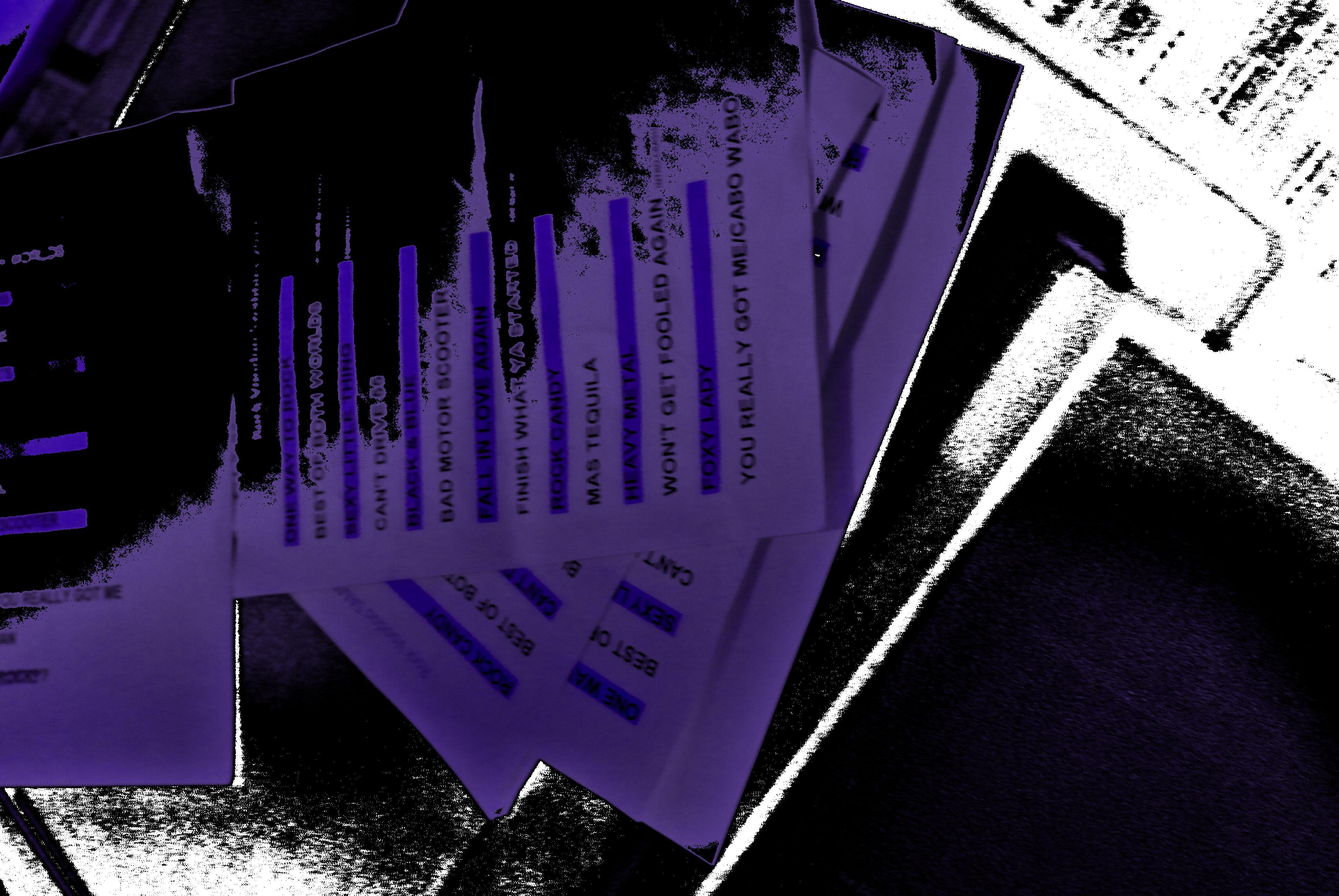 backstage set list prep